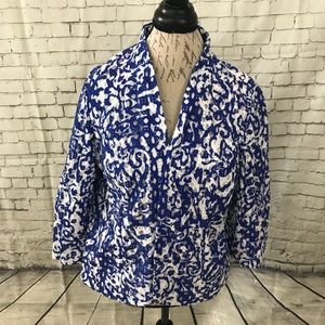 Chico's Blue and White Lace Jacket